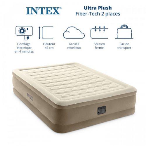 Matelas gonflable électrique Intex Ultra-Plush 2 Places