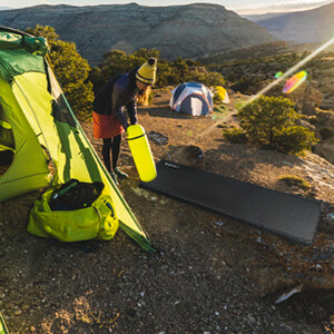 bessport autogonflant lit camping facile installer