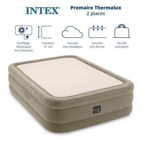 matelas gonflable intex thermalux 2 places 64478NP